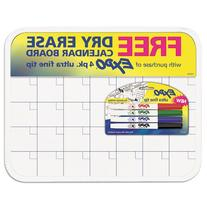 EXPO Low-Odor Dry Erase Calendar Set, Ultra-Fine Tip, 5-