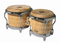 Latin Percussion LP Generation II® Bongos, Natural/Chrome