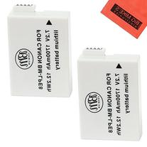 BM Premium 2-Pack of LP-E8 Batteries for Canon EOS Rebel T2i