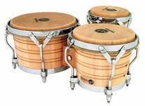 Latin Percussion LP202-AW Bongo Drum Natural / Chrome
