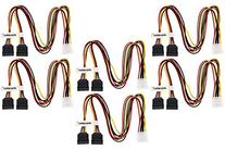 Aleratec LP4 to SATA Female 1:2 Y Splitter Power Cable 16 in