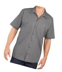 Dickies LS535 Men's Industrial SS Work Shirt Graphite Grey