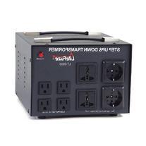 LiteFuze LT-5000 5000 Watt Voltage Converter Transformer -