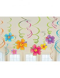 Luau Swirl Hanging Decorations Value Pack
