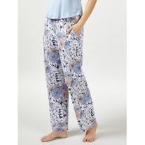 John Lewis Lucinda Tapered Pyjama Bottoms, Navy/Melon