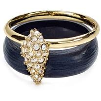 Alexis Bittar Lucite Crystal Encrusted Movable Band Ring