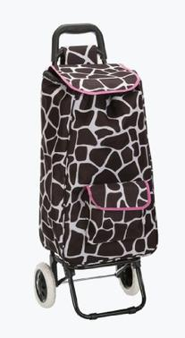 Rockland Luggage Rolling Shopping Tote, Pink Giraffe, One