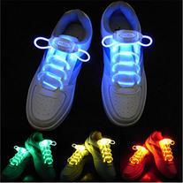 AYAMAYA Luminous LED Multicolors Shoelaces Fashion Light Up