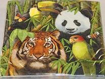 Wild Animals Lunch / Dinner Napkins 16 Napkins - Party