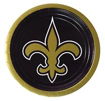 "9"" Lunch Paper Plates NEW ORLEANS SAINTS - 8ct"