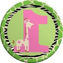 7 inch Lunch Plates Wild At One Giraffe 96 Ct
