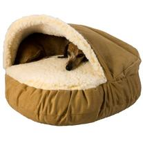 Snoozer Luxury Cozy Cave, Camel, Large