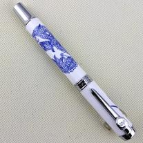 Jinhao 950 Blue and White Porcelain Dragon Medium Nib 18kgp