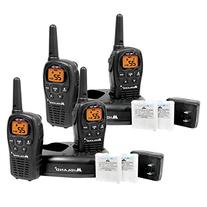 4-Pack Midland LXT500VP3 Two Way Radio, Rechargeable