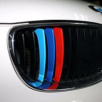 M-colored Stripe Car Sticker Decal for Grille Fender Hood