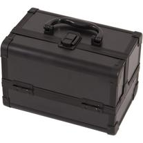 JustCase M1001PPAB Cosmetic Makeup Train Case with Mirror