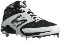 New Balance Men's M4040 Metal Mid Baseball Shoe,Black/White,
