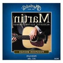 Martin M550 Phosphor Bronze Acoustic Guitar Strings, Medium