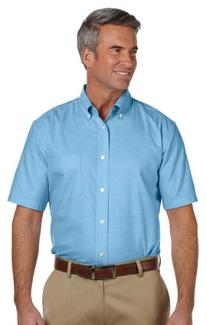 M600 Mens Long-Sleeve Oxford with Stain Release
