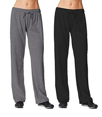 Champion M7421 Womens Jersey Pant Medium 1 Black + 1 Granite