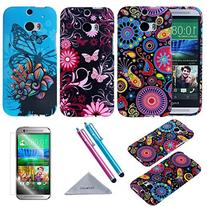 M8 Case, Wisdompro 3 Pack Bundle of Color and Graphic