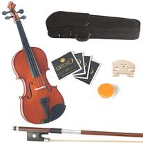 Mendini 12-Inch MA250 Natural Varnish Solid Wood Viola with