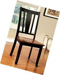 Macchio Transitional Dining Chair, Cherry/Black, Set of 2