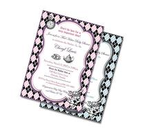 Mad Hatter Baby Shower Invitation Girl or Boy - Girl Baby