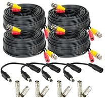 Amcrest 4-Pack 60 Feet Pre-Made All-in-One Siamese BNC Video