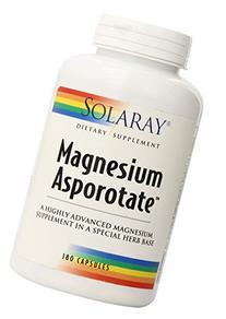 Solaray Magnesium Asporotate Supplement, 180 Count