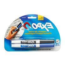 EXPO Low-Odor Dry Erase Markers, Fine Tip, 2-Count with