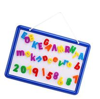 Magnetic Whiteboard with 109 Alphabet Letters & Numbers -