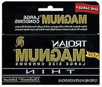 Trojan Magnum Thin Lubricated Condoms, 3 Count