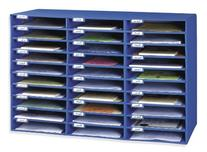 Pacon Classroom Keepers 30-Slot Mailbox, Blue