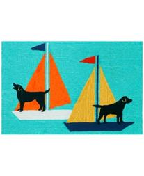 Liora Manne Front Porch Indoor/Outdoor Sailing Dogs 2' x 3'