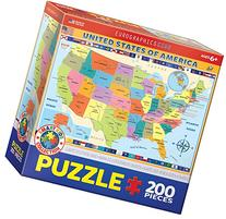 EuroGraphics Map of the United States of America Jigsaw