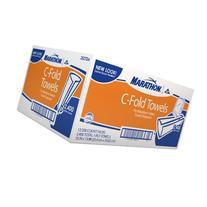 Marathon Commercial White C-fold Paper Towels Case 2,400