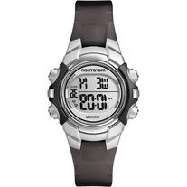Marathon by Timex Digital Mid-Size Black and Silver-Tone