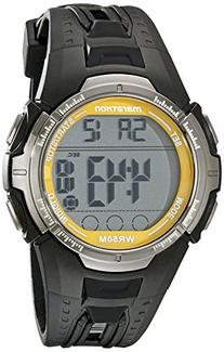 Marathon by Timex Men's Digital Full-Size Black and Yellow