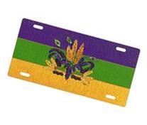 Mardi Gras Mask License Plate