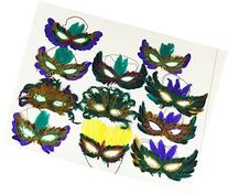 GIFTEXPRESS Mardi Gras Masks Perfect for Mardi Gras party/