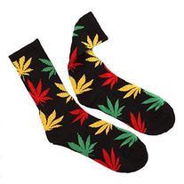 Marijuana Weed Leaf Men/Women sport socks colourful Cotton