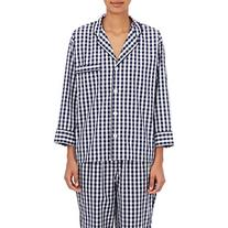 Sleepy Jones Women's Marina Gingham Cotton Pajama Top