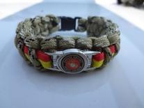 Marine Corps Paracord Survival Bracelet with Charm By