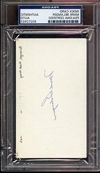 Mark Belanger Autographed Index Card PSA/DNA Authentic