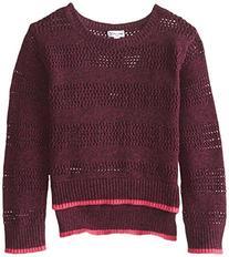 Girl's Splendid Marled Sweater, Size 5-6 - Purple