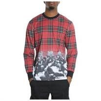 Staple Mens The Marlow Printed LS Graphic T-Shirt