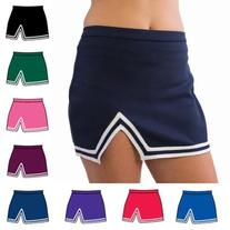 Pizzazz Maroon A Line Cheer Uniform Skirt Girls 10-12