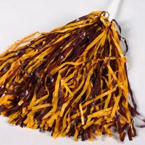 Maroon and Gold Pom Poms