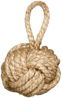 Two's Company Marseille  Knot Door Stopper  - Jute